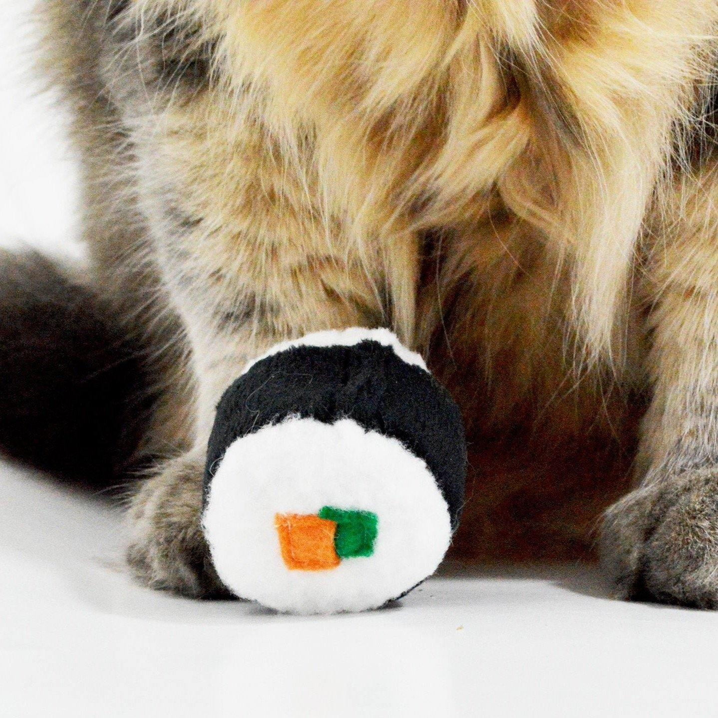 Sushi Roll Catnip Toy, 2 Pieces