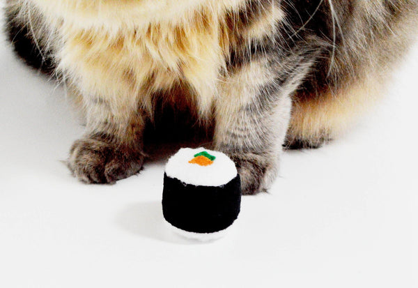 Sushi Roll Catnip Toy, 2 Pieces - 3 W cats