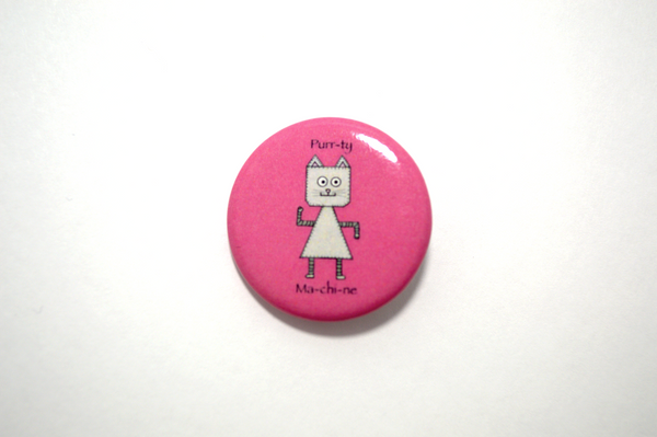 Cat Robot Pinback Button