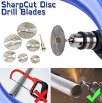Disc Drill Blades and Mandrel Set (7pcs)