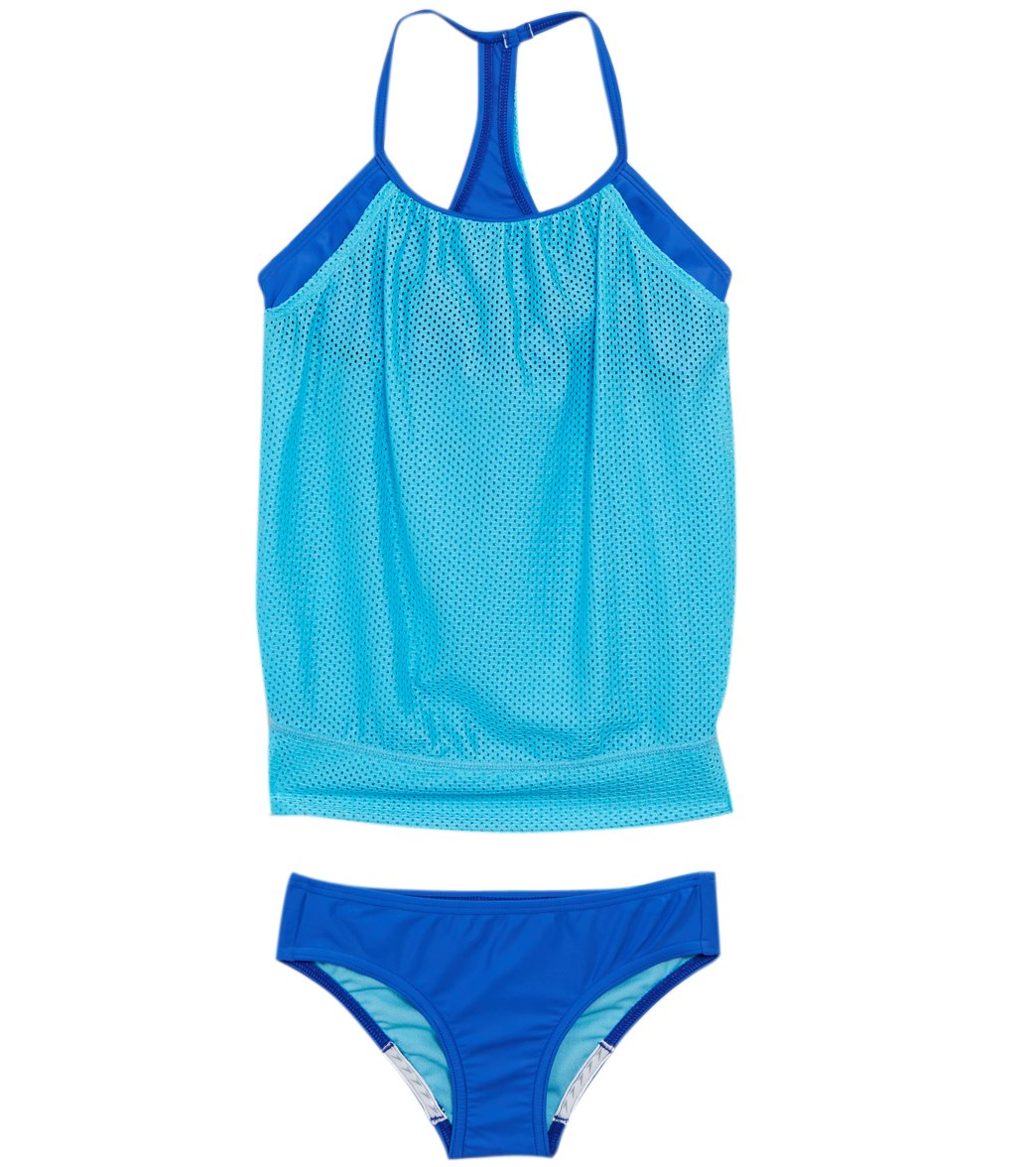 Speedo Girls Blouson Tankini Set