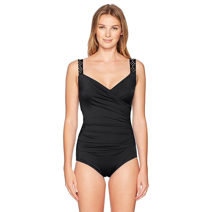 Jantzen Women's Draped Surplice One Piece