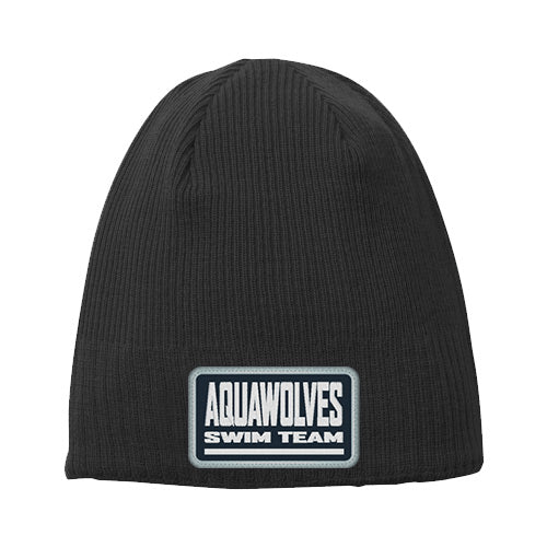 Aquawolves Team Beanie Patch Logo