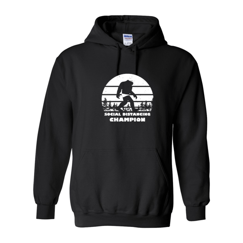 Social Distancing Champion: Male Swimmer Hoody