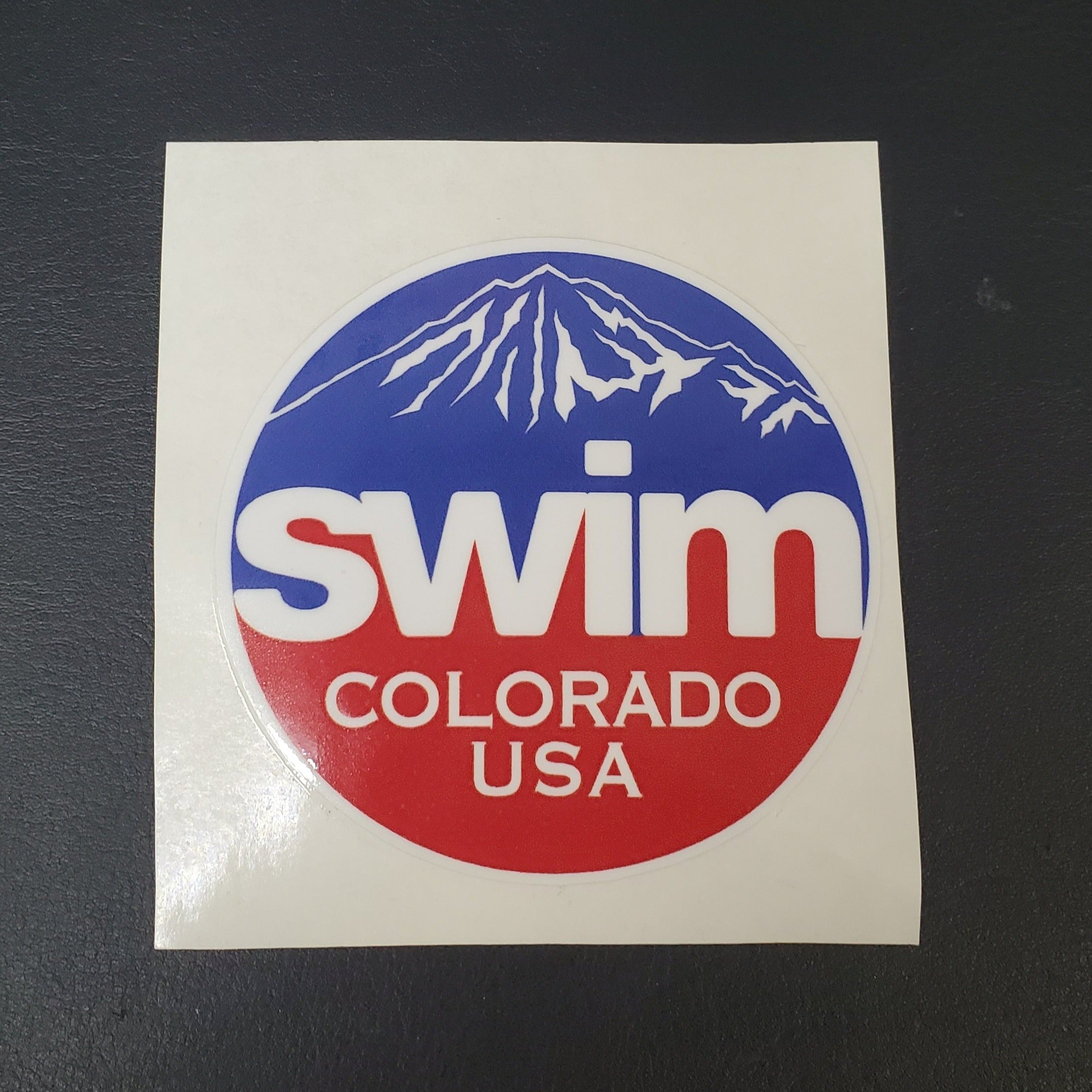 Swim Colorado USA Sticker