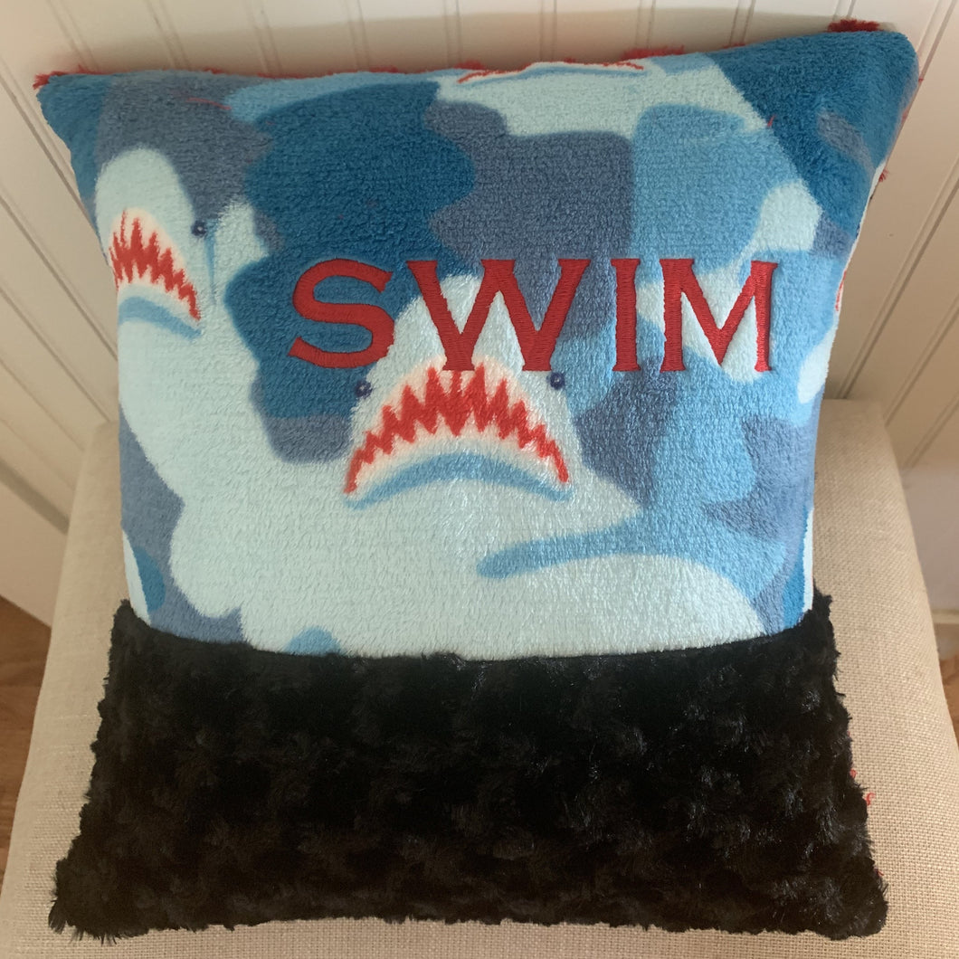 Shark Swim Pillow