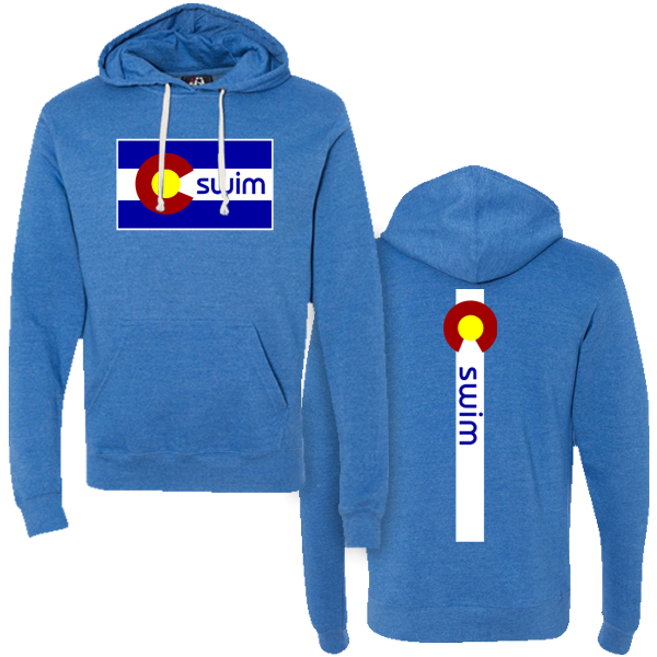 Swim Colorado Flag Hoody
