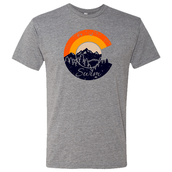 Swim Colorado Mountain C Retro T-Shirt