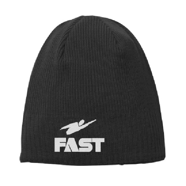 Fast Embroidered Beanie