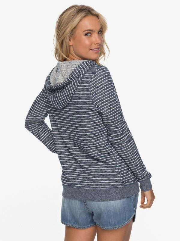 Roxy Trippin Stripe Zip-Up Hoodie