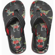 Reef AHI Toddler Flipflops-T-Rex