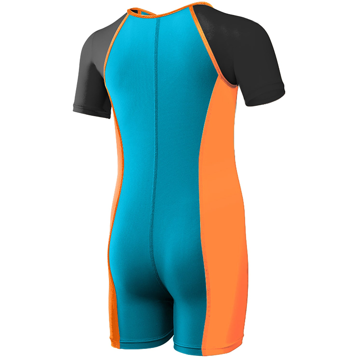 TYR Boys Solid Thermal Suit- Blue/Orange