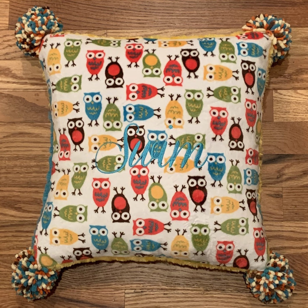 Many Owls Swim Pillow