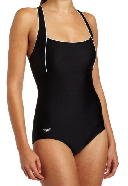 Speedo Endurance+ Piped Maillot Swimsuit