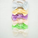 SALE: Chunky Cotton Bow: Pink