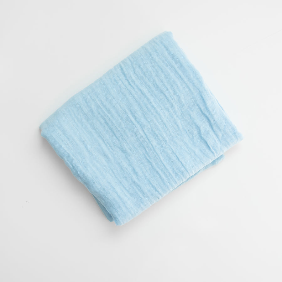 Muslin Swaddle- Light Blue