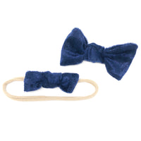 Sale: Velvet Bow - Navy