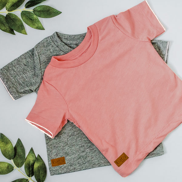 SALE: Teeny Toddler Tee's - Mauve
