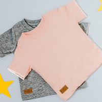 SALE: Teeny Toddler Tee's - Light Pink