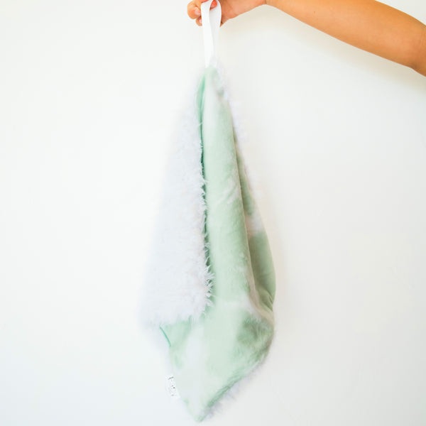 SALE: Snuggle Bug Blanket - Tie Dye Green