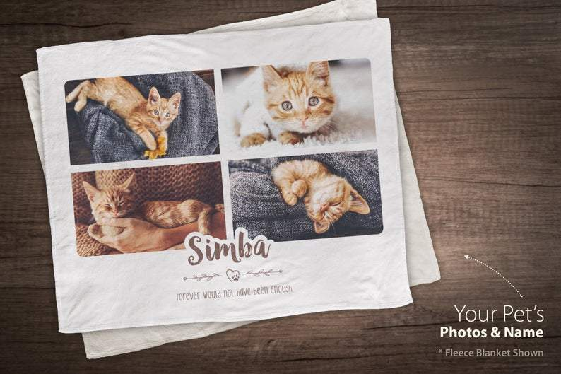 921482e4bec8 Personalize Pet Blanket, Custom Blanket, Pet Loss Gift, Cat Memorial