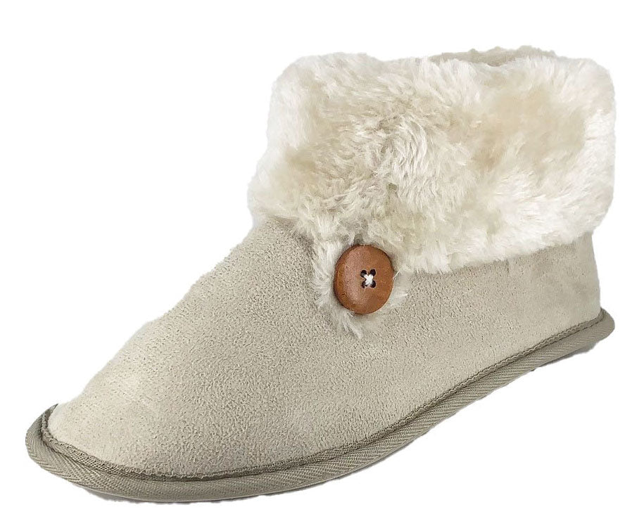 Maddie Mini 1- Button Slipper Boot