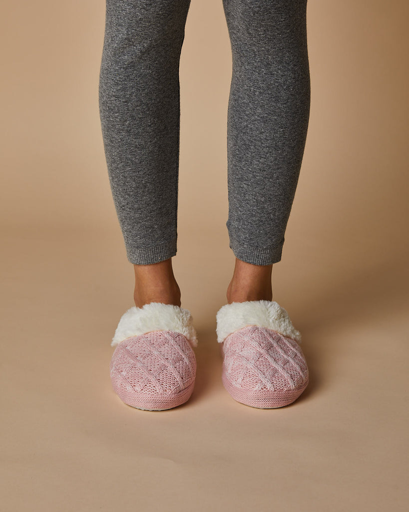 Cari Knit Cosy Slipper