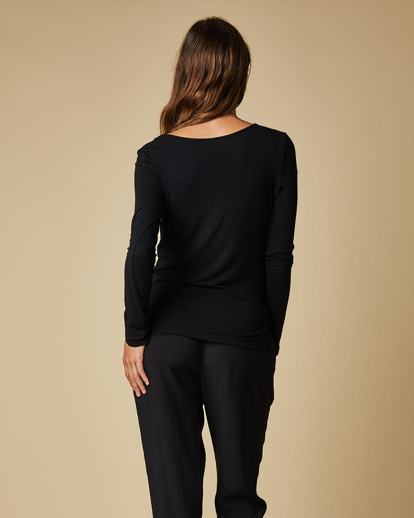 Plain Long Sleeve Top