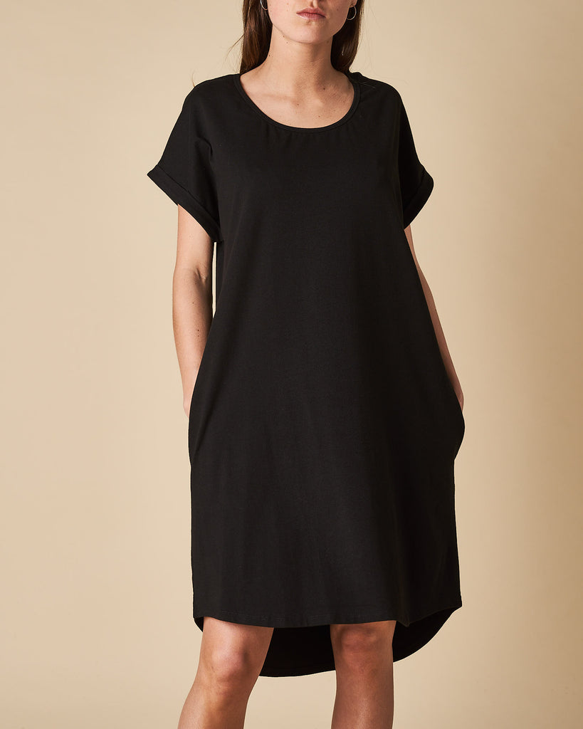 Roll Up Sleeve C/N Tee Dress