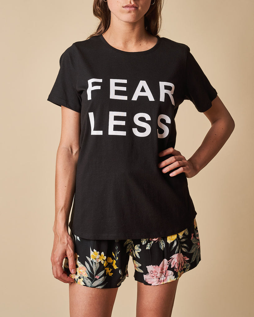 Printed Tee - Fear Less