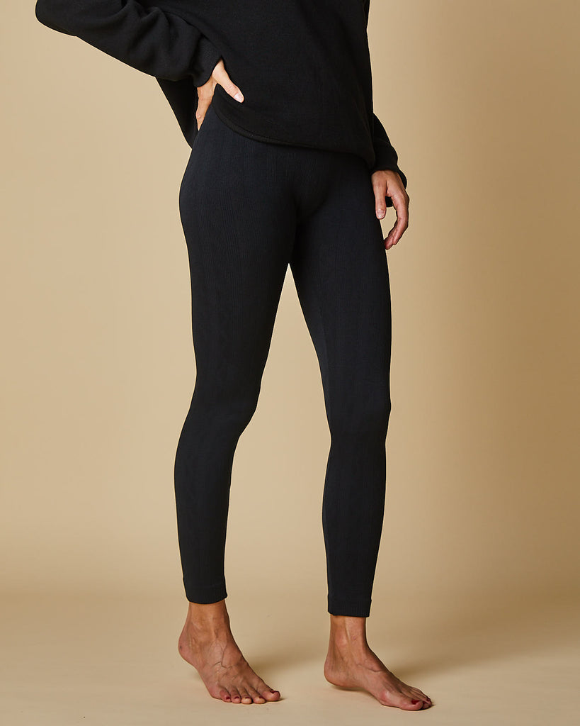 Jacquard Plush Leggings