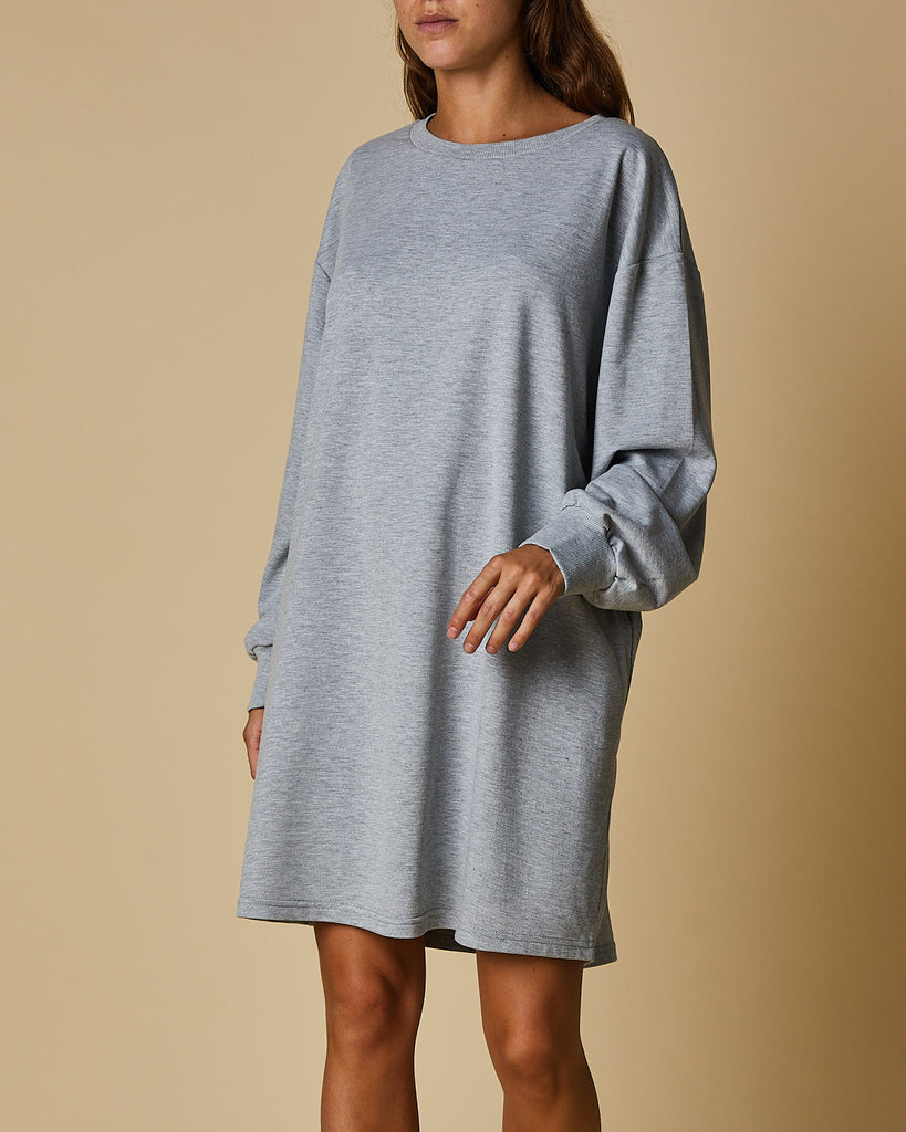 Tee Dress - Grey Marle