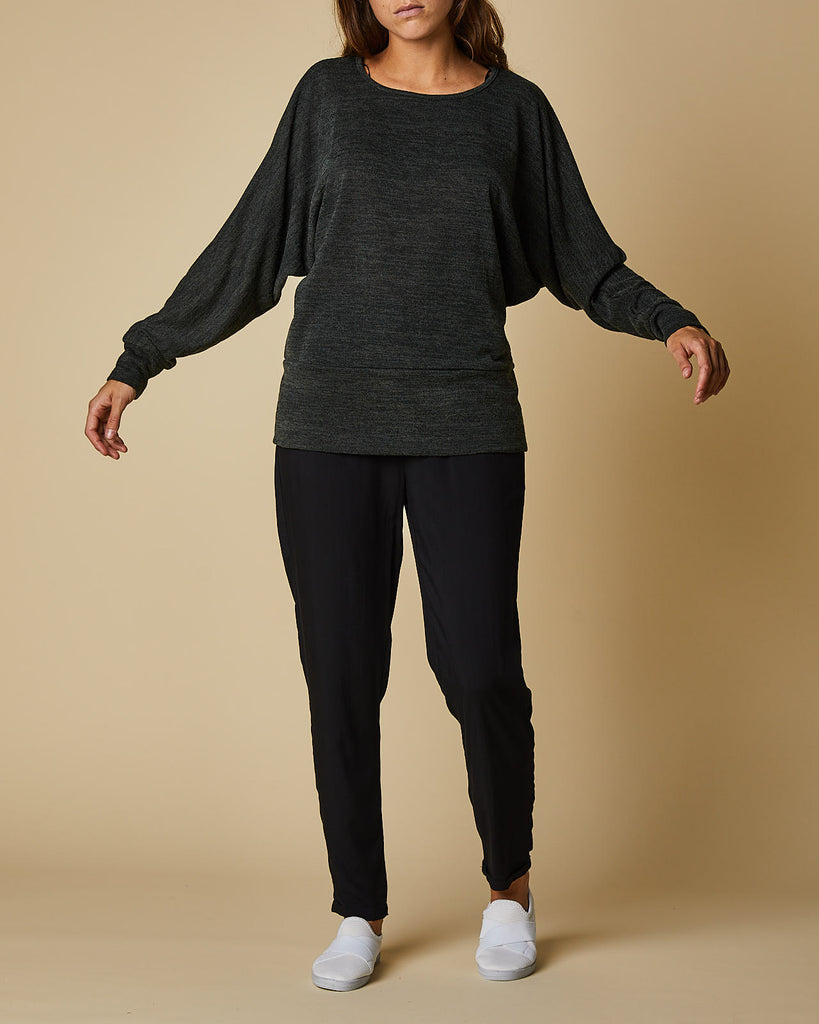 Batwing Sleeve Top With Basque