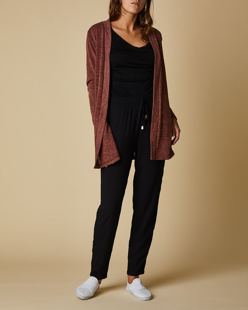 Open Cardigan Mid Length