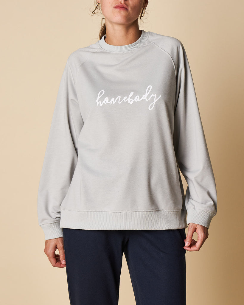 Printed Raglan Sweat Top- Homebody