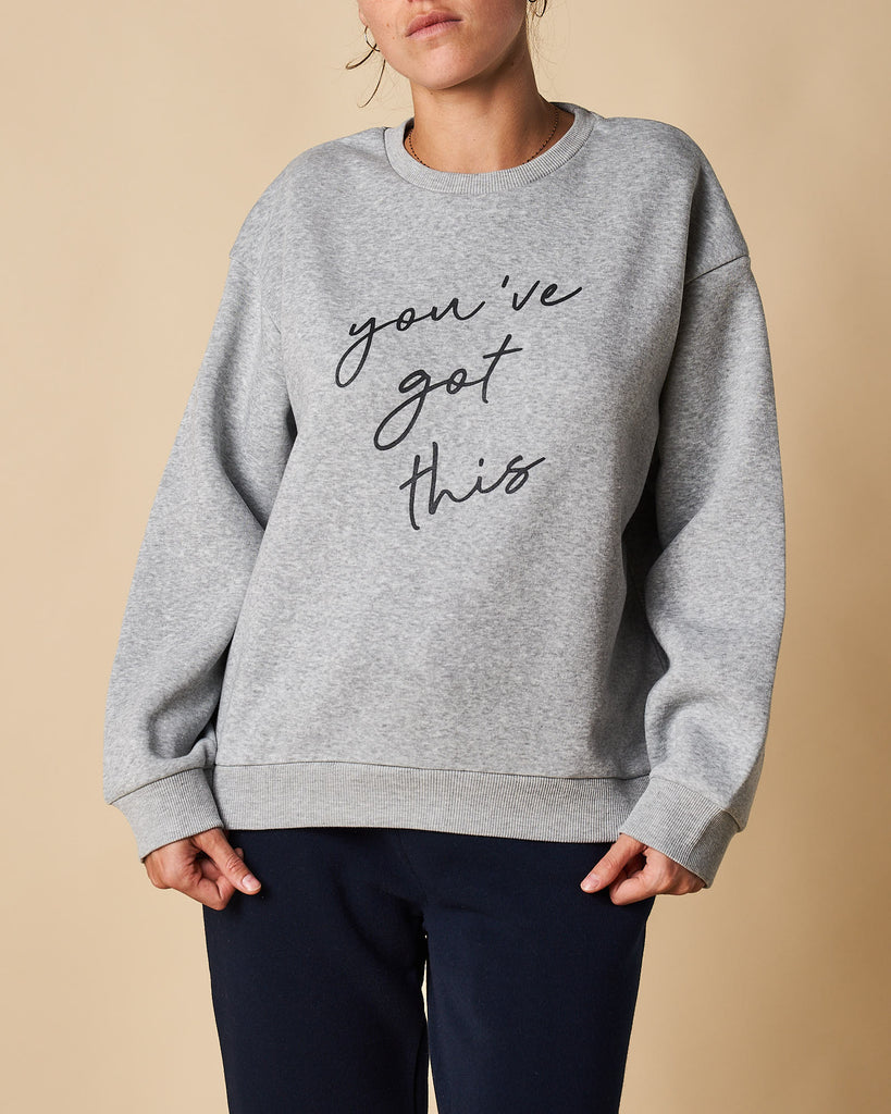 Printed Crew Neck Sweat - You've Got This