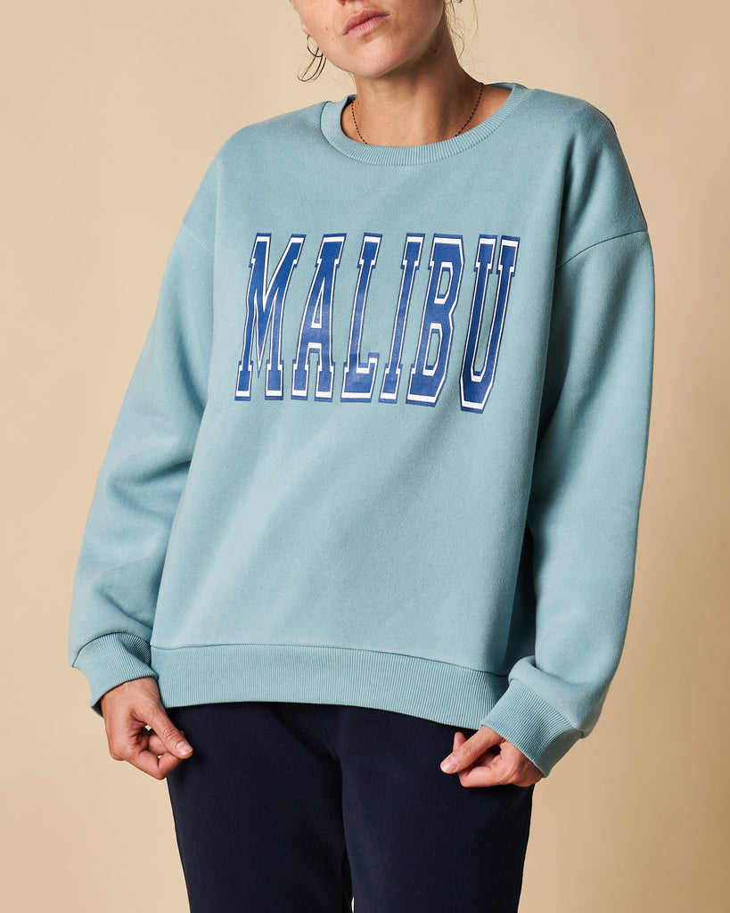 Printed Crew Neck Sweat - Malibu