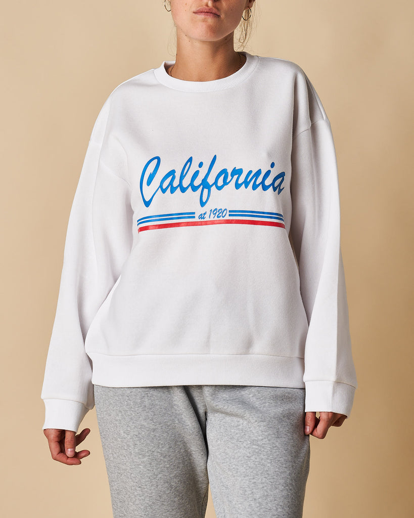 Printed Crew Neck Sweat - California