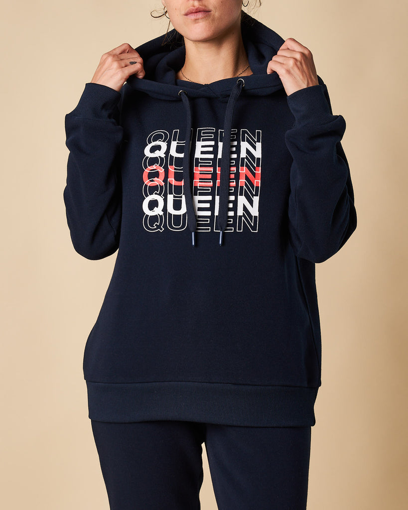 Printed Hoodie Sweat - Queen