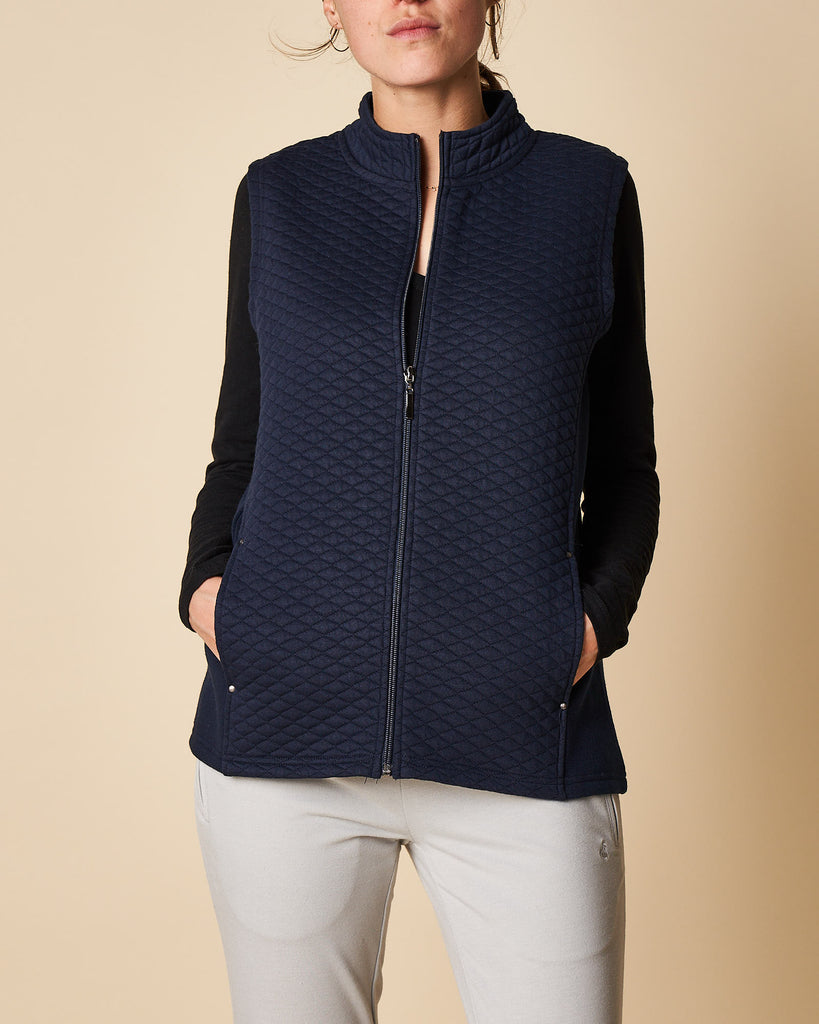 Quilted Zip Through Vest
