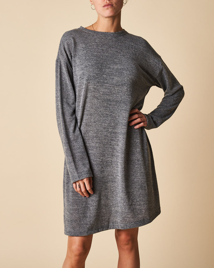 Tunic Dress With Turtle Neck