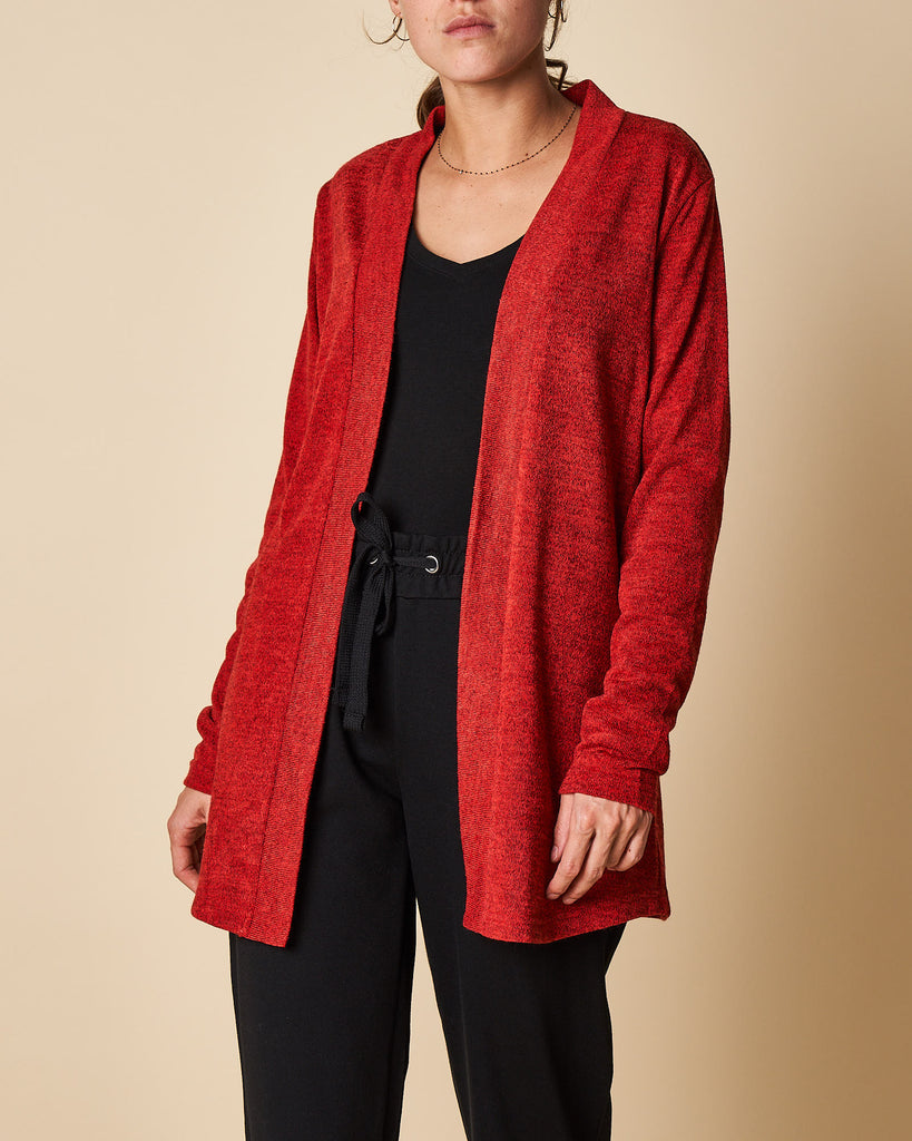 Open Front Cardigan - Mid Length