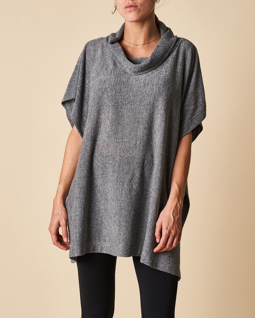 Poncho Top With 1 Btn Open Sides