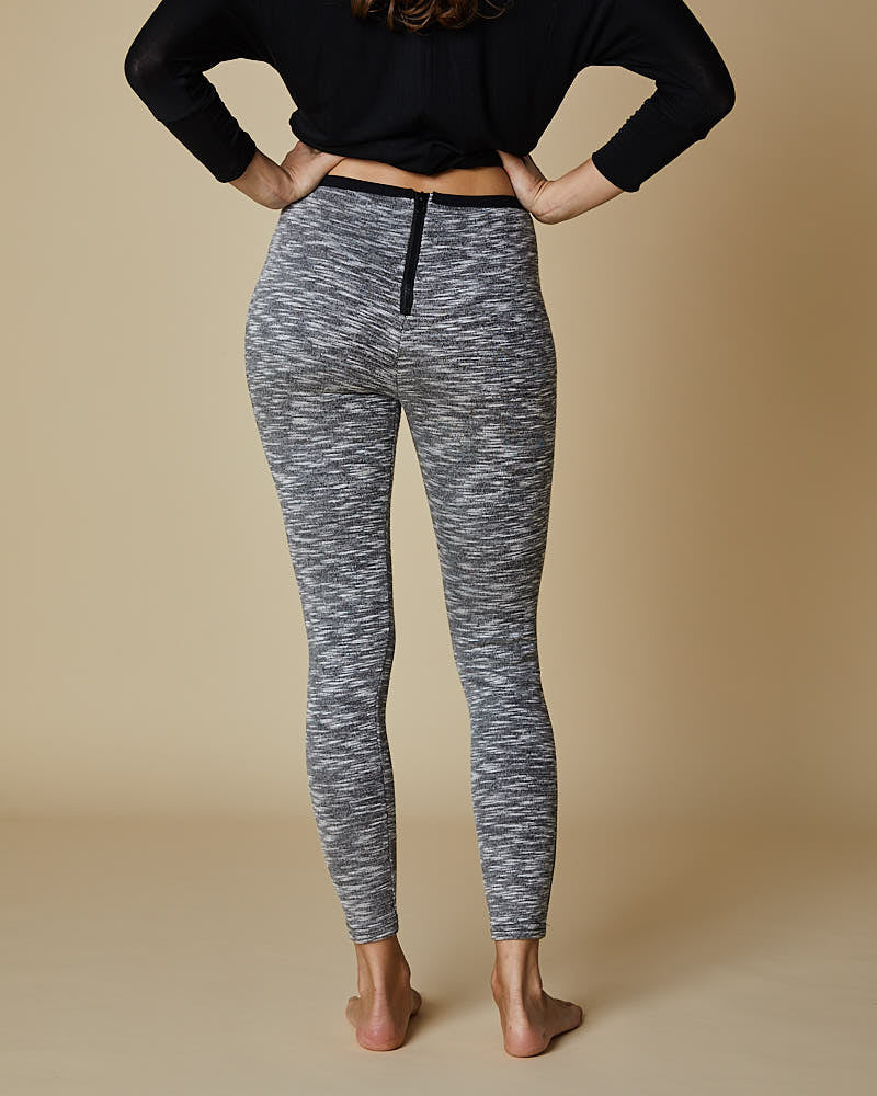 Marle Effect Leggings With Zip