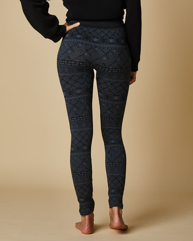 Horizontal Jacquard Plush Legging
