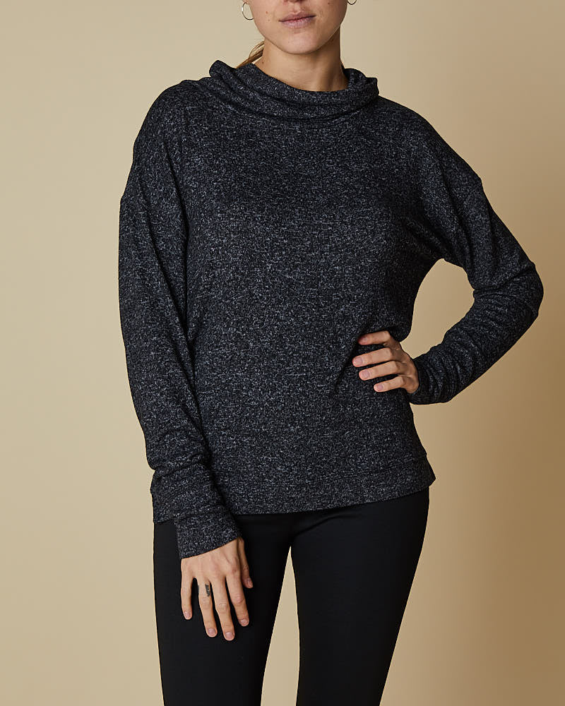 Cowl Neck Top with X Back Detail