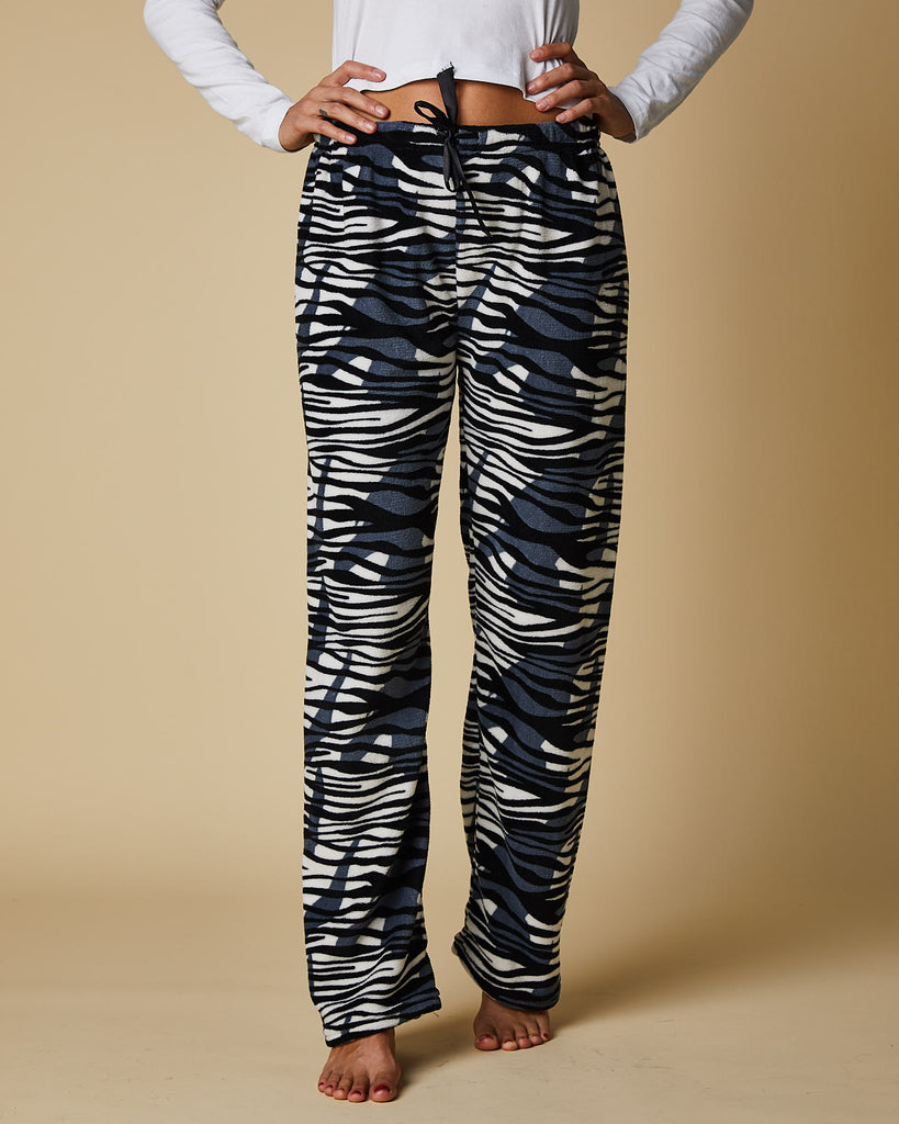 PJ Pants Black & White Tiger