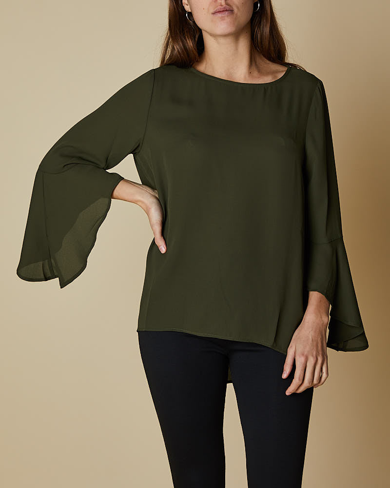 Bell Sleeve Top - Forest