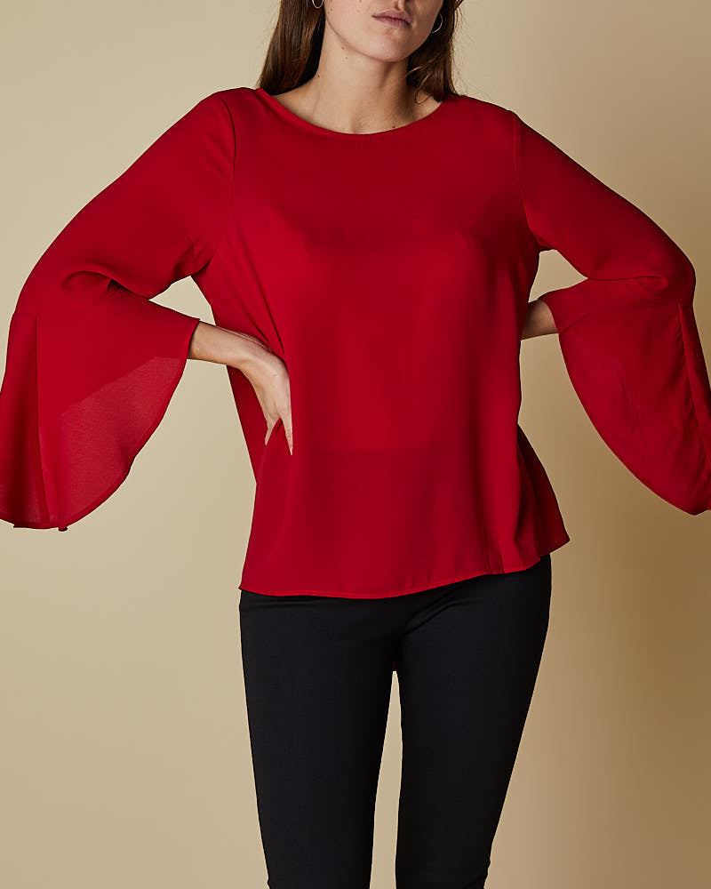 Bell Sleeve Top - Scarlett