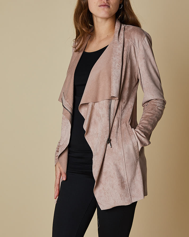 Waterfall Jacket With Zip